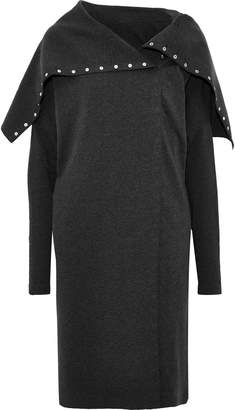 Norma Kamali Snap-detailed French Cotton-blend Terry Dress