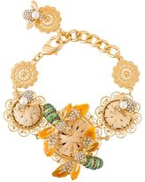 Dolce & Gabbana bee and flower filigree bracelet
