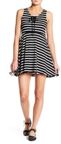 Angie Lace Up Flare Dress