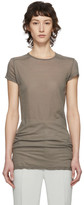 Rick Owens Taupe Level T-Shirt