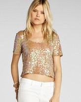 BCBGeneration Top - Cropped Sequin