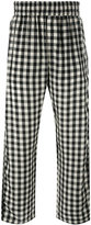 Off-White checked loose-fit trousers - men - Cupro - S