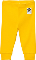 Mini Rodini Yellow Solid Rib Leggings