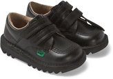 Kickers Black Kick Lo Velcro School Shoes