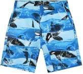 Molo Killer Whale Print Swim Shorts
