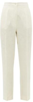 Etro Bristol Floral-jacquard Trousers - White