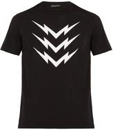 Neil Barrett Lightning bolt-print cotton-jersey T-shirt