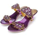 Monie Women's Comfort Wedding Dress Sandals for Bride Low Chunky Heel 10.5-11B US