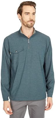 Linksoul 1/2 Zip Pullover Windbreaker (Deep Lake) Men's Clothing