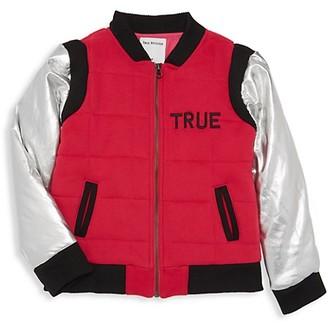 True Religion Little Boy's Boy's Metallic Quilted Bomber Jacket