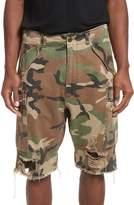 R 13 Surplus Shredded Camo Cargo Shorts