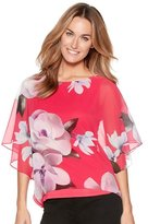 M&Co Floral print batwing top