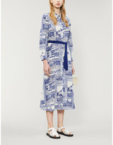Claudie Pierlot Riverabise silk-crepe midi dress