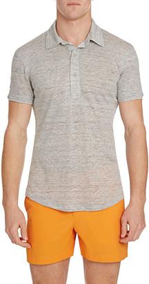 Orlebar Brown Men's Sebastian Linen Melange Polo Shirt
