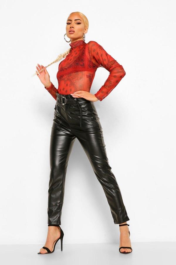 560fae1589382 Leather Look Pants - ShopStyle Australia