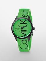 Calvin Klein Womens Logo Green Watch Green