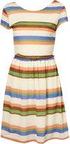Stripe Cap Sleeve Dress by Rare**