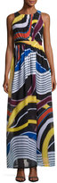 Catherine Malandrino Back-Cutout Sleeveless Maxi Dress, Multi Pattern
