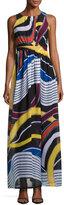 Catherine Malandrino Back-Cutout Sleeveless Maxi Dress, Multi Pattern