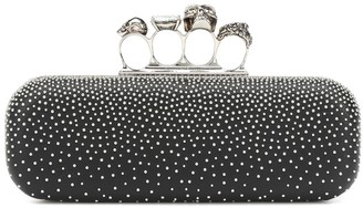 Alexander McQueen Four Ring embellished box clutch