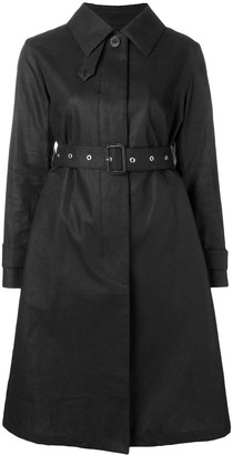 MACKINTOSH Black Storm System Linen Single-Breasted Trench Coat LM-061B