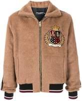 Dolce & Gabbana embroidered-badge bomber jacket
