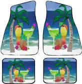 xmarc Tropical Beach Drinks Auto Car Floor Mats