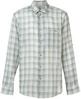 John Varvatos checked shirt - men - Cotton/Lyocell - S
