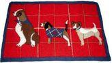 Martha Stewart Collection Holiday Dog Bath Rug Mat Red 21 X 33 Msrp $60