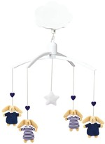 Trousselier Striped Navy Blue Rabbit Baby Nest Musical Mobile