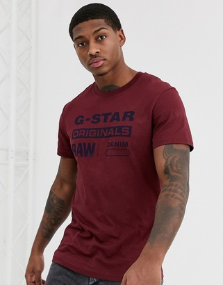 G Star G-Star Originals t-shirt in dark red