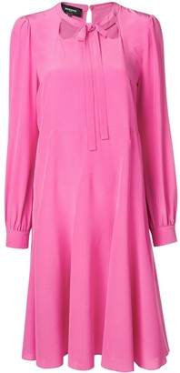 Rochas Tie Front Shift Dress