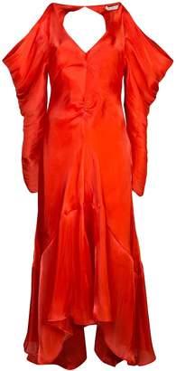 REJINA PYO draped-shoulder gown