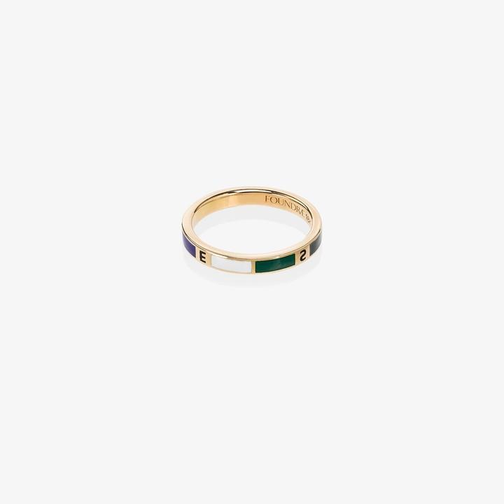 Foundrae 18K yellow gold Course Correction diamond ring