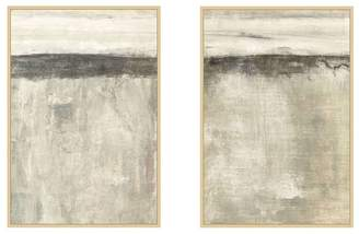 Pottery Barn Neutral Sense Framed Canvas