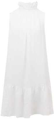 Ephemera - High-neck Cotton-poplin Dress - White