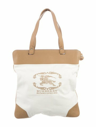 Burberry Stowell Tote Bag White