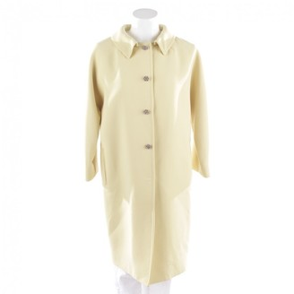Dolce & Gabbana Yellow Wool Coats