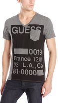 GUESS Stencil V-Neck Tee