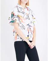 Erdem Paisley Parrot-printed cotton-poplin shirt