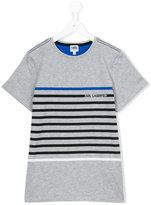 Karl Lagerfeld striped T-shirt - kids - Cotton - 14 yrs