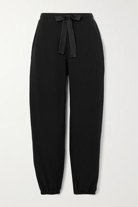 I.D. Sarrieri Satin-trimmed Cotton-blend Jersey Track Pants - Black