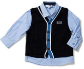 HUGO BOSS Boys Long Sleeve Shirt With Knitted Cardigan
