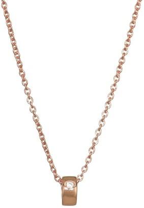 ginette_ny Mini Tube & Diamond Chain Necklace