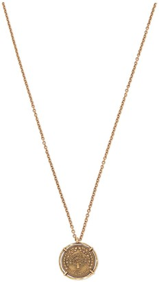 Mulberry Large Medallion Necklace Gold Brass