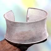 Balinese Silver Filigree Bracelet, 'Infinite Moonbeams'
