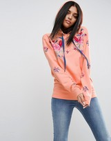 Asos Hoodie with Floral Embroidery