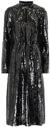 Tibi Avril sequined midi dress
