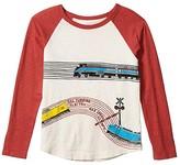 Off-White Peek PEEK Wyatt Train Track Long Sleeve Tee (Toddler/Little Kids/Big Kids Boy's Clothing