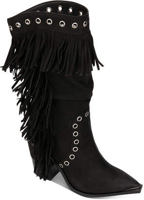 Kenneth Cole New York Women West Side Fringe Boots Women Shoes